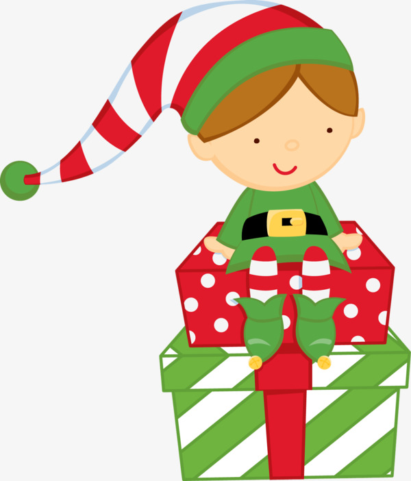 Cartoon elf gift green clothes, Hand-painted Cartoon, Green Clothes, Elf  Free PNG Image - Elf HD PNG