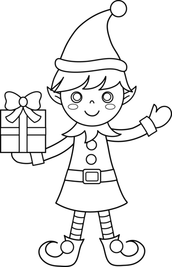 Elf PNG Black And White - 63398