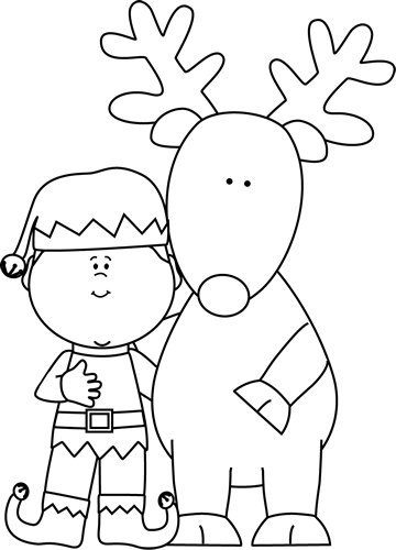 Elf PNG Black And White - 63402