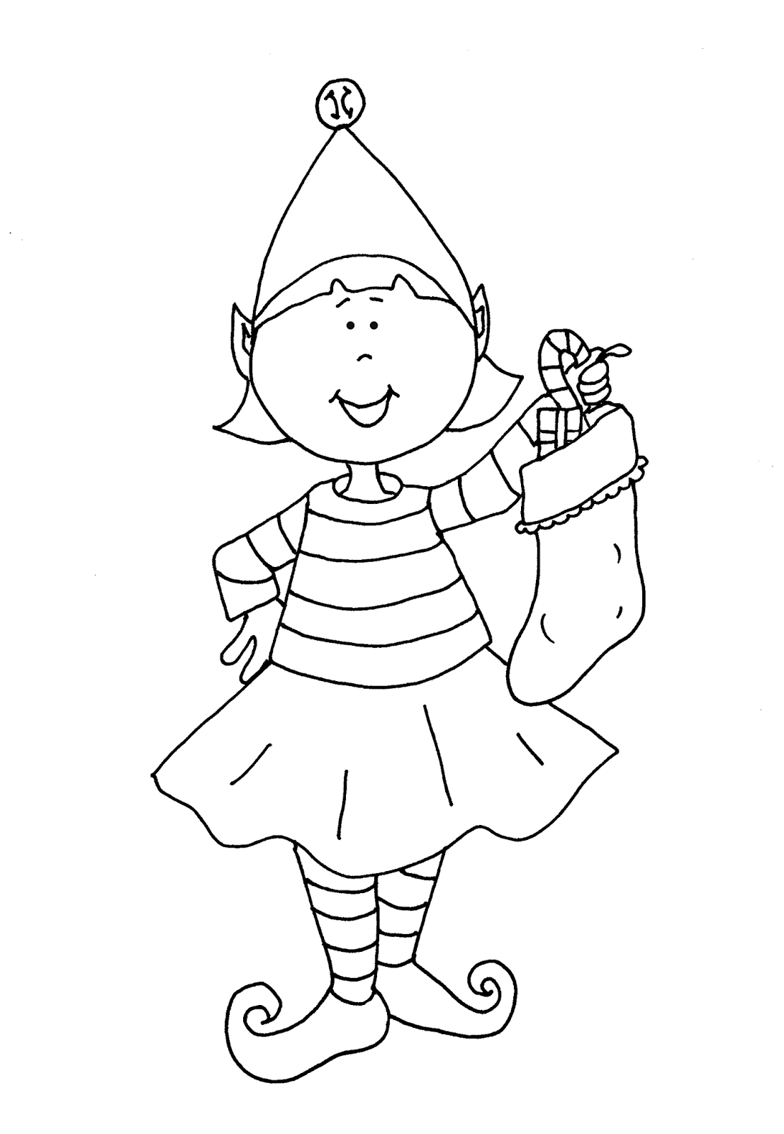 Elf Girl - Elf PNG Black And White