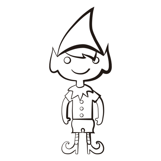 Elf stroke icon 54 png - Elf PNG Black And White