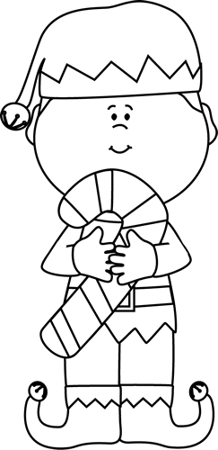Elf PNG Black And White - 63403