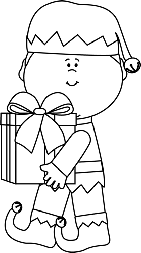 pin Elf clipart black and white #8 - Elf PNG Black And White