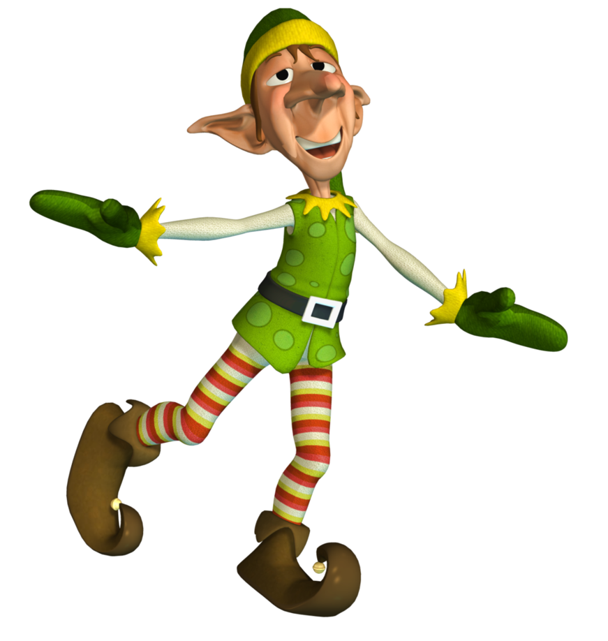 Christmas Elf 2 PNG Stock by