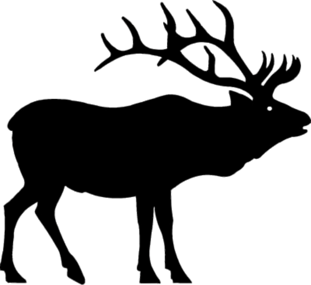 Elk PNG Black And White - 63937