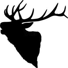Elk Head Silhouette 836 x 829 .png - Elk PNG Black And White
