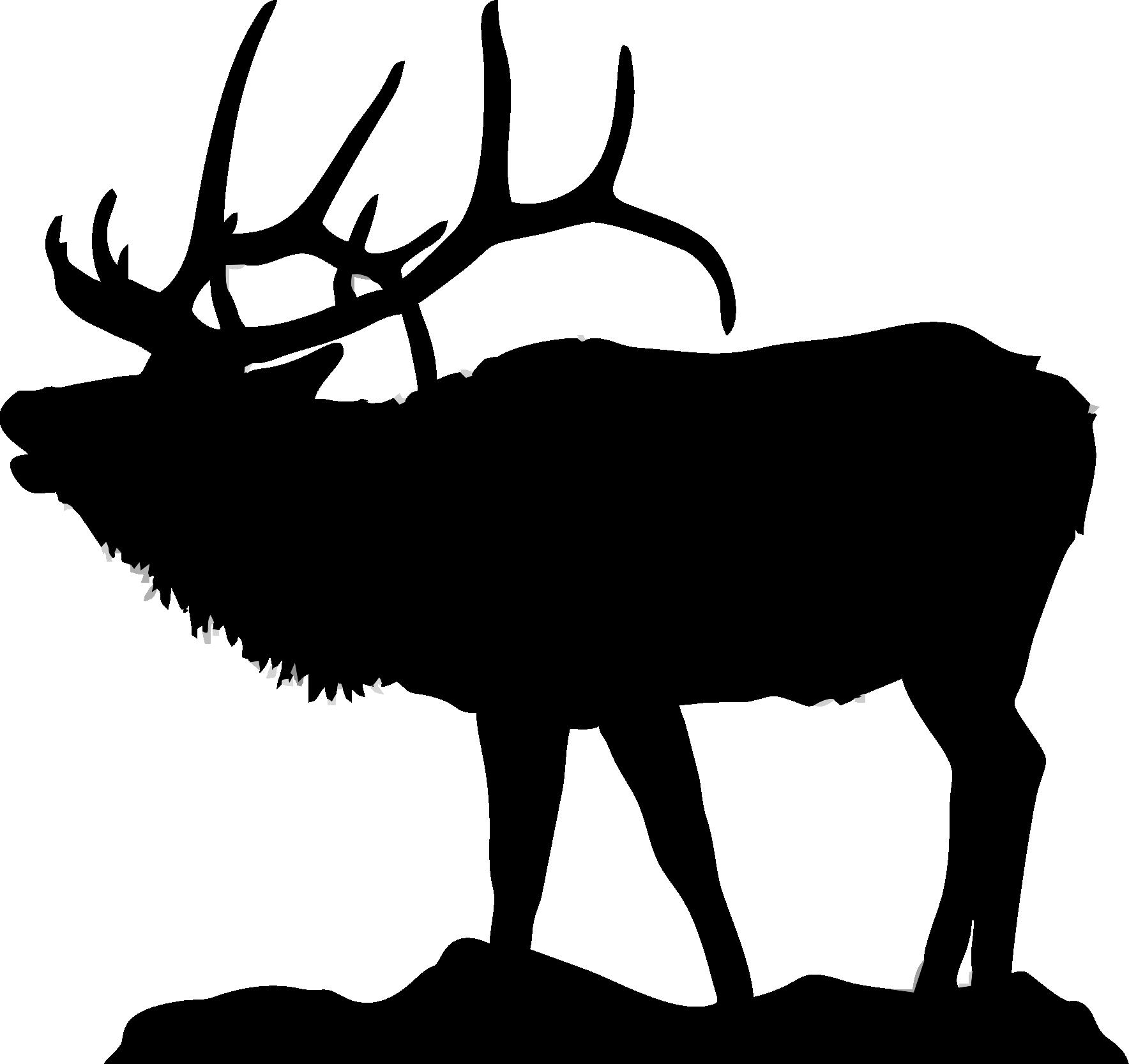 Elk head silhouette similar galleries clip art - Elk PNG Black And White