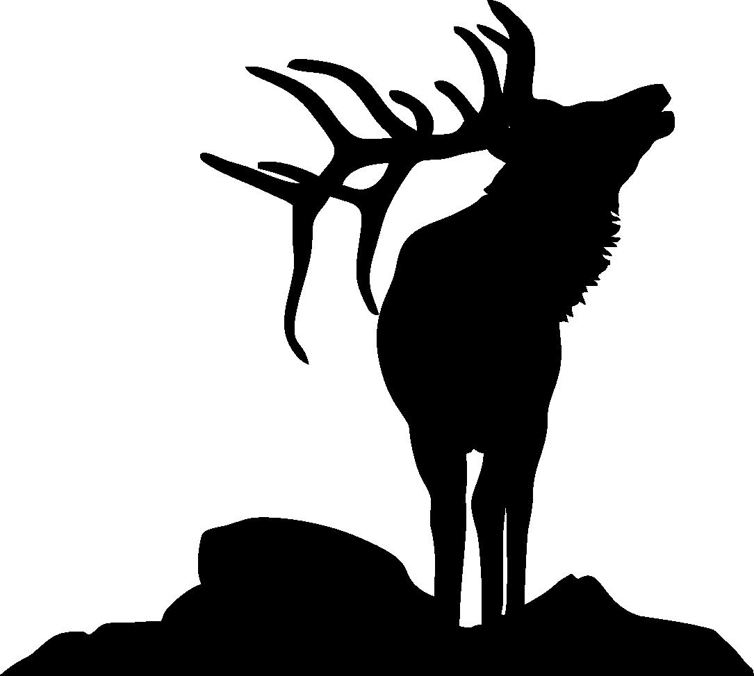 elk silhouette | elk-silhouette-9 - Elk PNG Black And White
