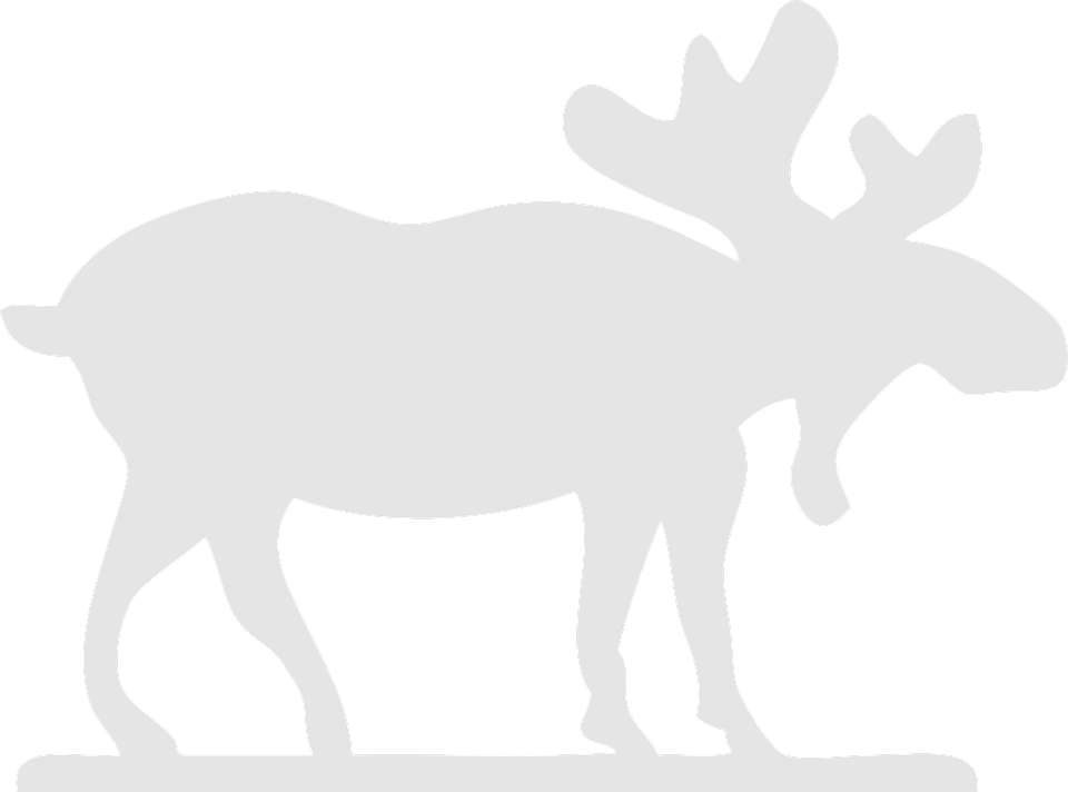 Elk PNG Black And White - 63940