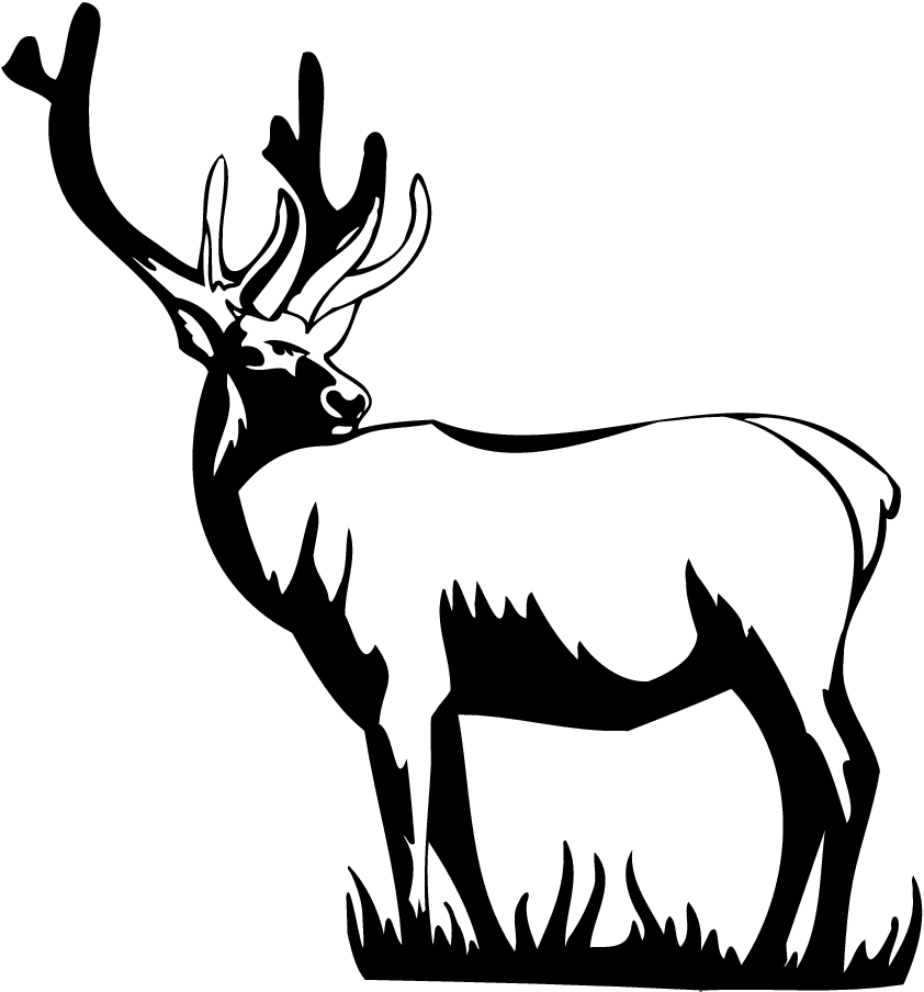 Elk PNG Black And White - 63936