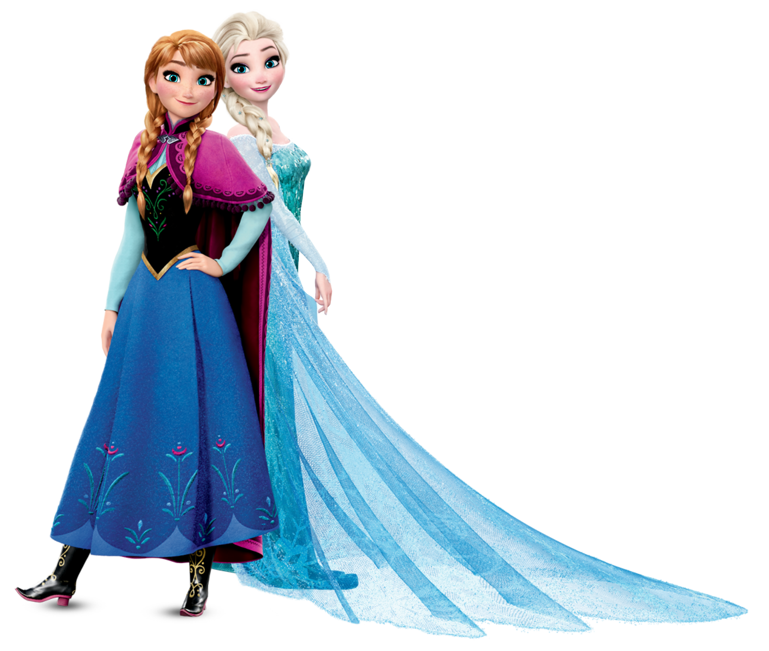 Anna and Elsa Frozen Transparent PNG Image - Elsa And Anna PNG
