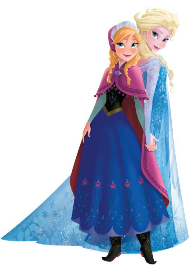 Anna u0026 Elsa 2.png - Elsa And Anna PNG