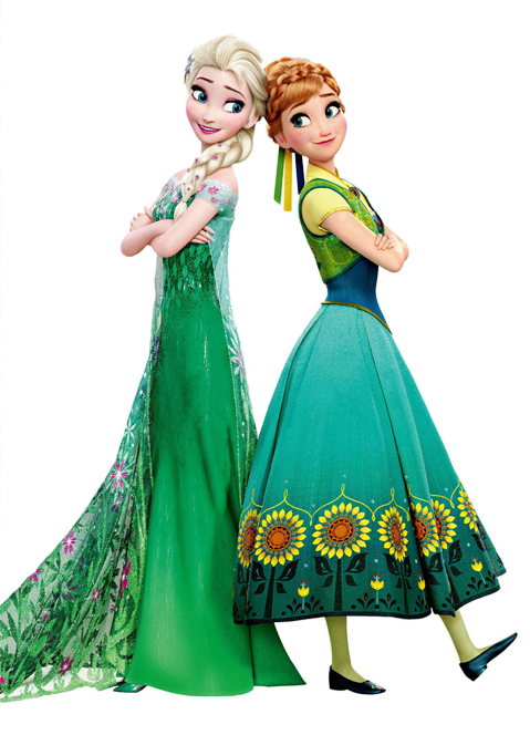 Elsa and Anna Frozen Fever Render.png - Elsa And Anna PNG