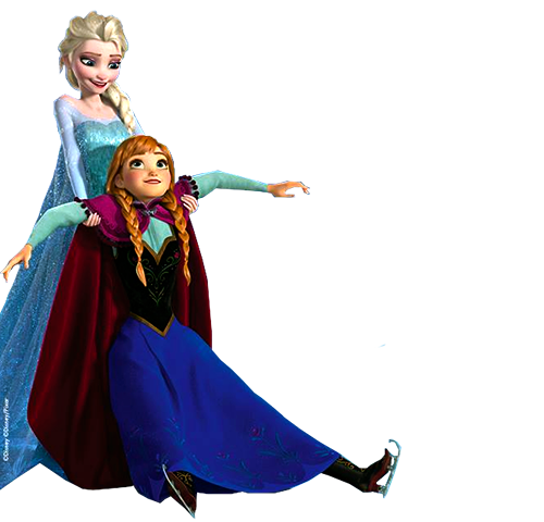 File:Elsa holding Anna.png - Elsa And Anna PNG