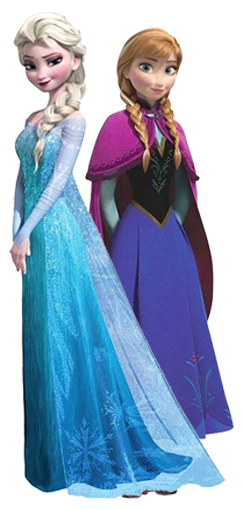 x Disney-frozen-anna-elsa-novo-design - Minus - Elsa And Anna PNG
