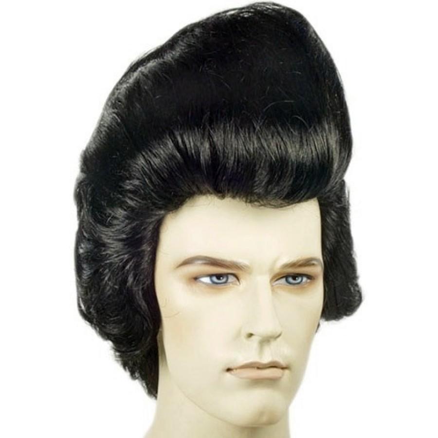 Deluxe Pompadour Elvis Wig - Elvis wig, Elvis Hair, 1950s Wig, Elvis Presley - Elvis Hair PNG