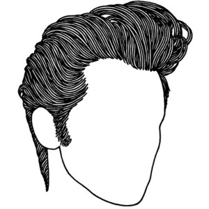 Hair Education - Elvis Hair PNG