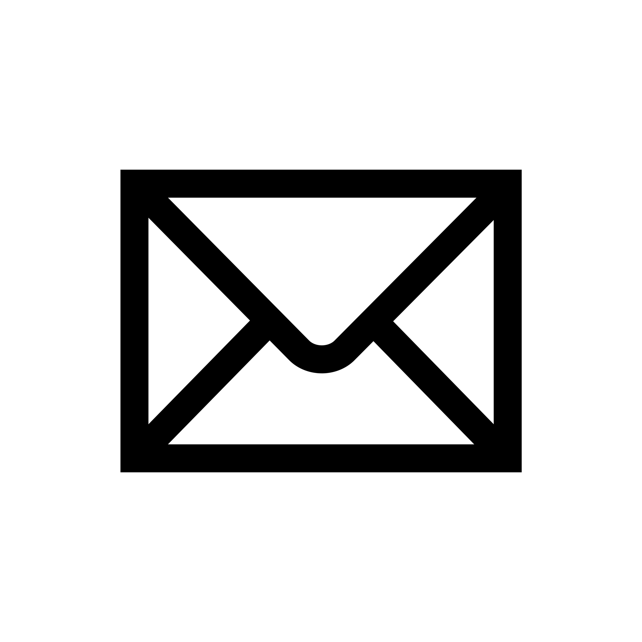 Email Icon Black Simple - Email PNG