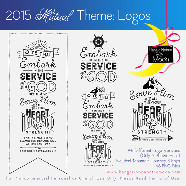 2015 Mutual Theme Logos! 48 different versions. Free download! - Embark In The Service Of God PNG