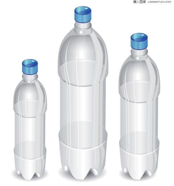 Empty bottles vector graphics - Plastic Bottles PNG