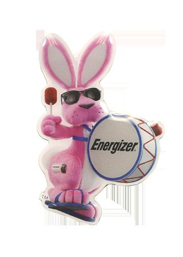 Lapel Pin - Energizer Bunny PNG