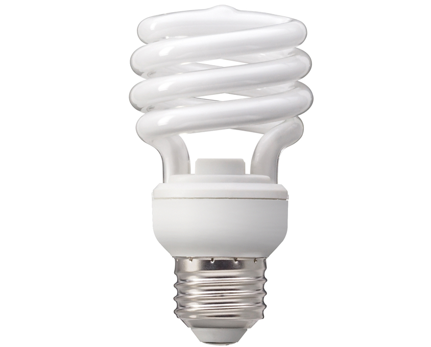 CFL - Energy Efficient Light Bulbs PNG