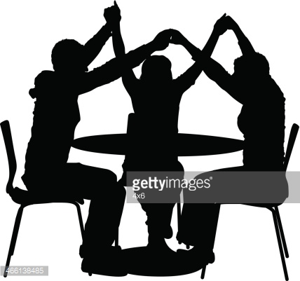 Silhouette Of Female Friends Vector Art - Enjoyment With Friends PNG