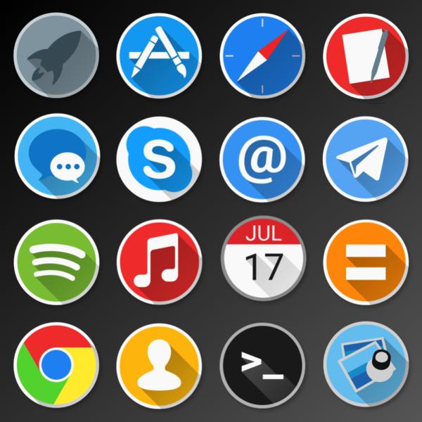 [WIP] Enkel Icon Pack for Mac by FroyoShark PlusPng.com  - Enkel PNG