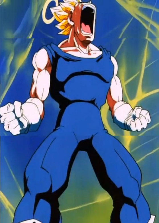 Deadly Vision - Vegeta enraged.PNG - Enraged PNG