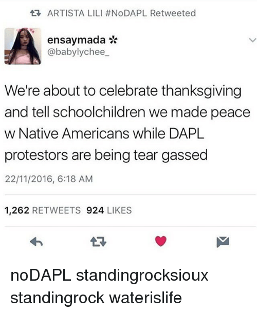 Memes, Native American, and Celebrated: tR, ARTISTA LILI #NoDAPL Retweeted  ensaymada - Ensaymada PNG Black And White