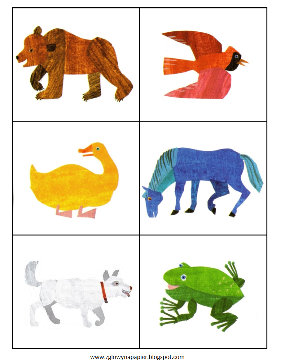 Brown Bear Brown Bear What Do You See? memory game - Eric Carle Brown Bear PNG