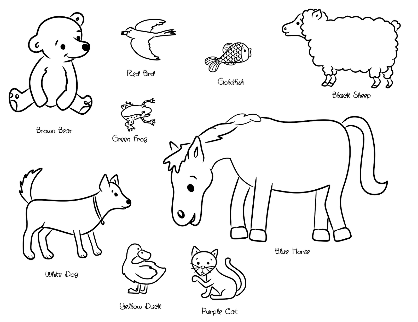 Brown Bear Eric Carle Animals Coloring Pages - Coloring Pages For - Eric Carle Brown Bear PNG
