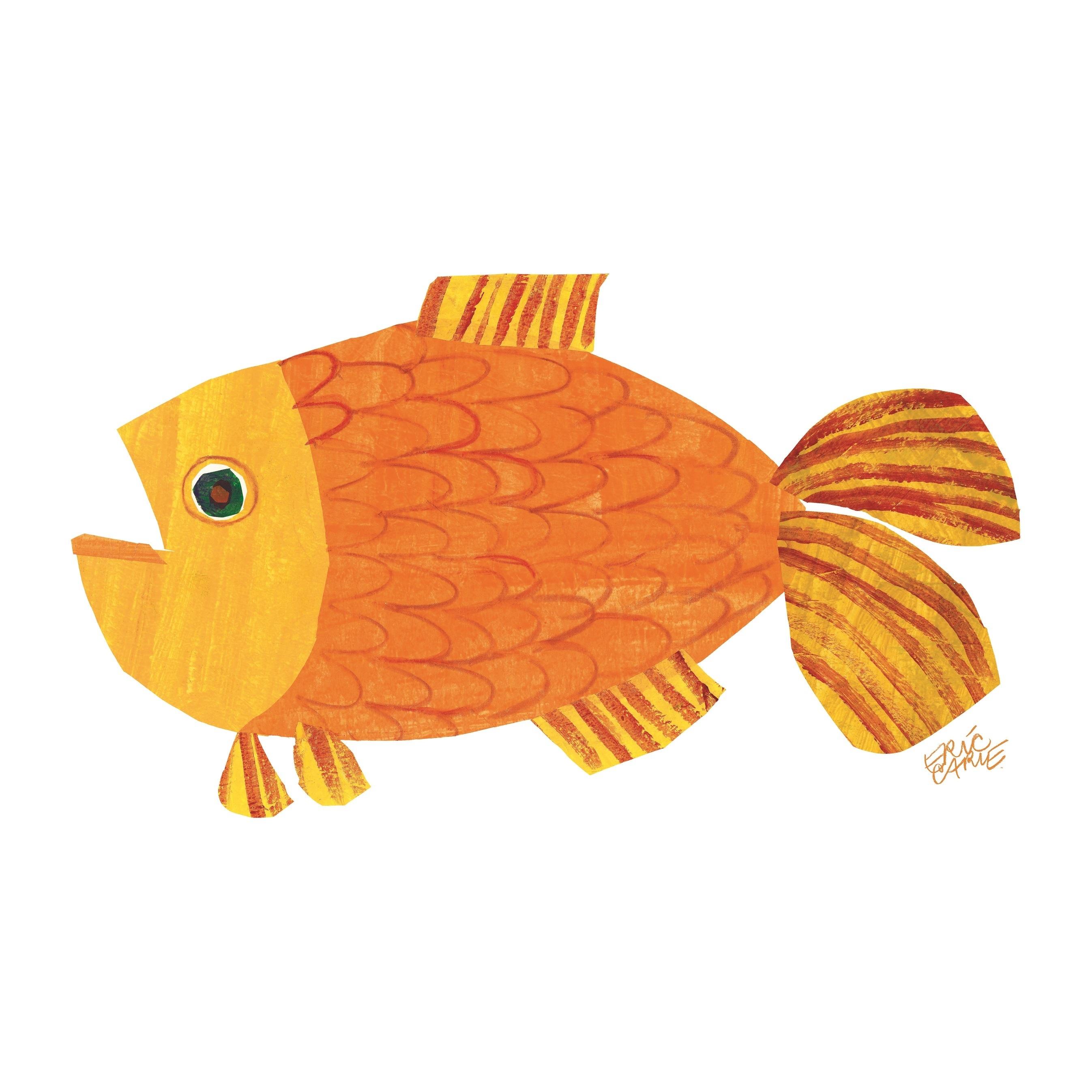 brown bear eric carle goldfish clipart - Eric Carle Brown Bear PNG