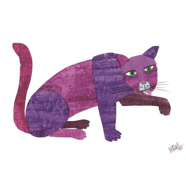 Eric Carle Brown Bear Clip Art, Brown Bear Purple Cat Framed - Eric Carle Brown Bear PNG