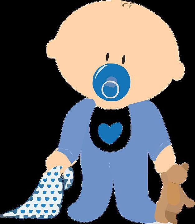 Bebek, Erkek, Teddy, Komando Dadı, Paket, Mavi, Standı - Erkek Bebek PNG