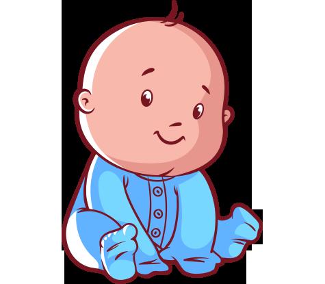 Clipart sevimli sevimli bakan mavili bebek - Erkek Bebek PNG