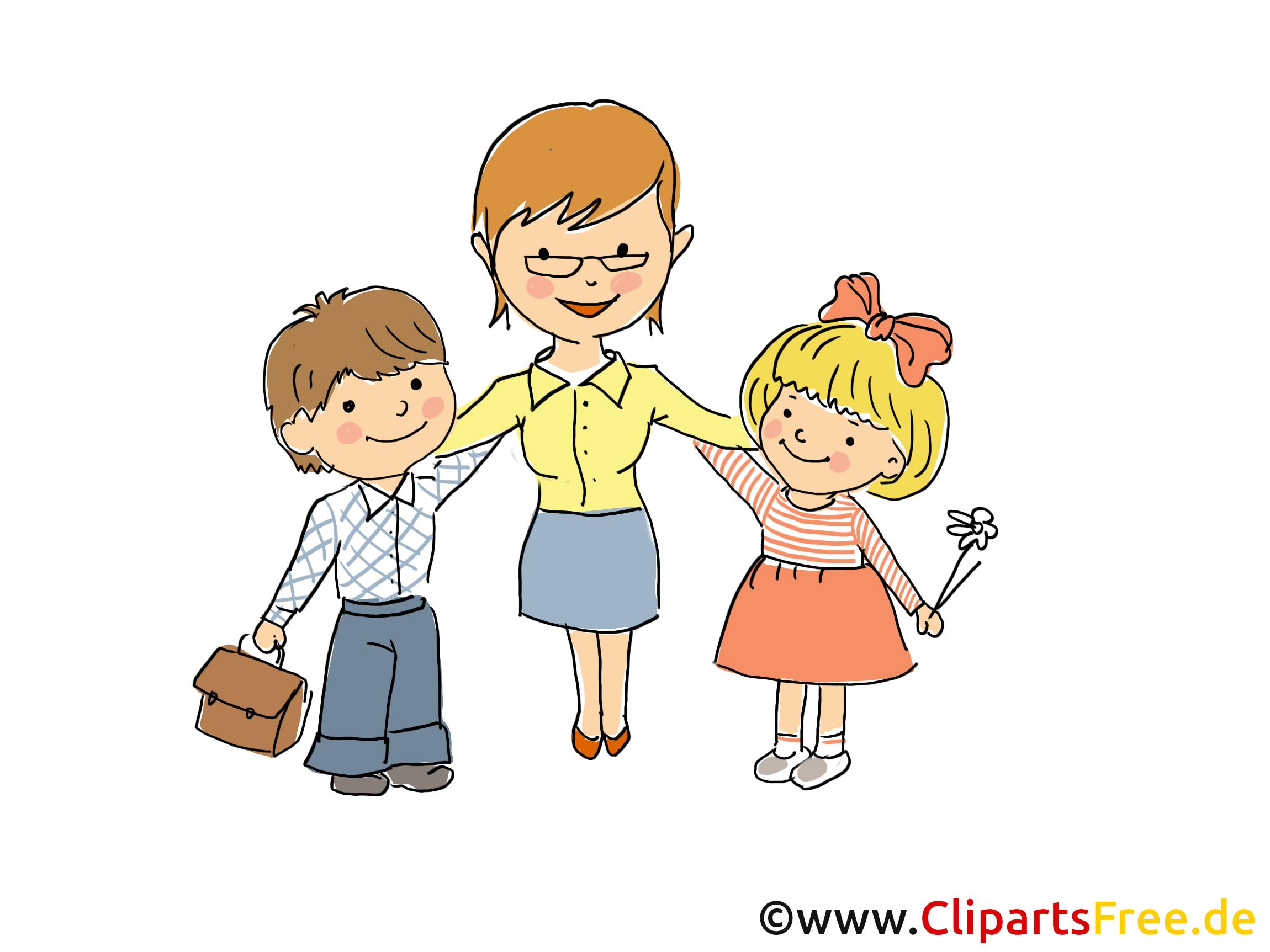 Erzieherin Mit Kindern PNG