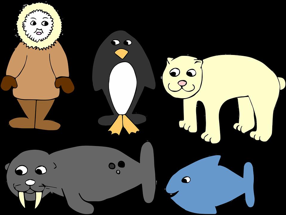 antarctica winter eskimo penguin fish seal bear - Eskimo PNG Free