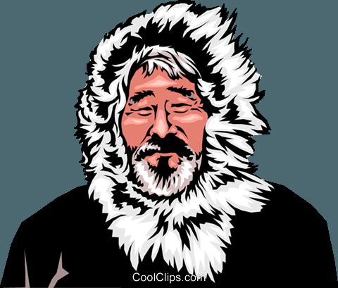 Eskimo man Royalty Free Vector Clip Art illustration - Eskimo PNG Free