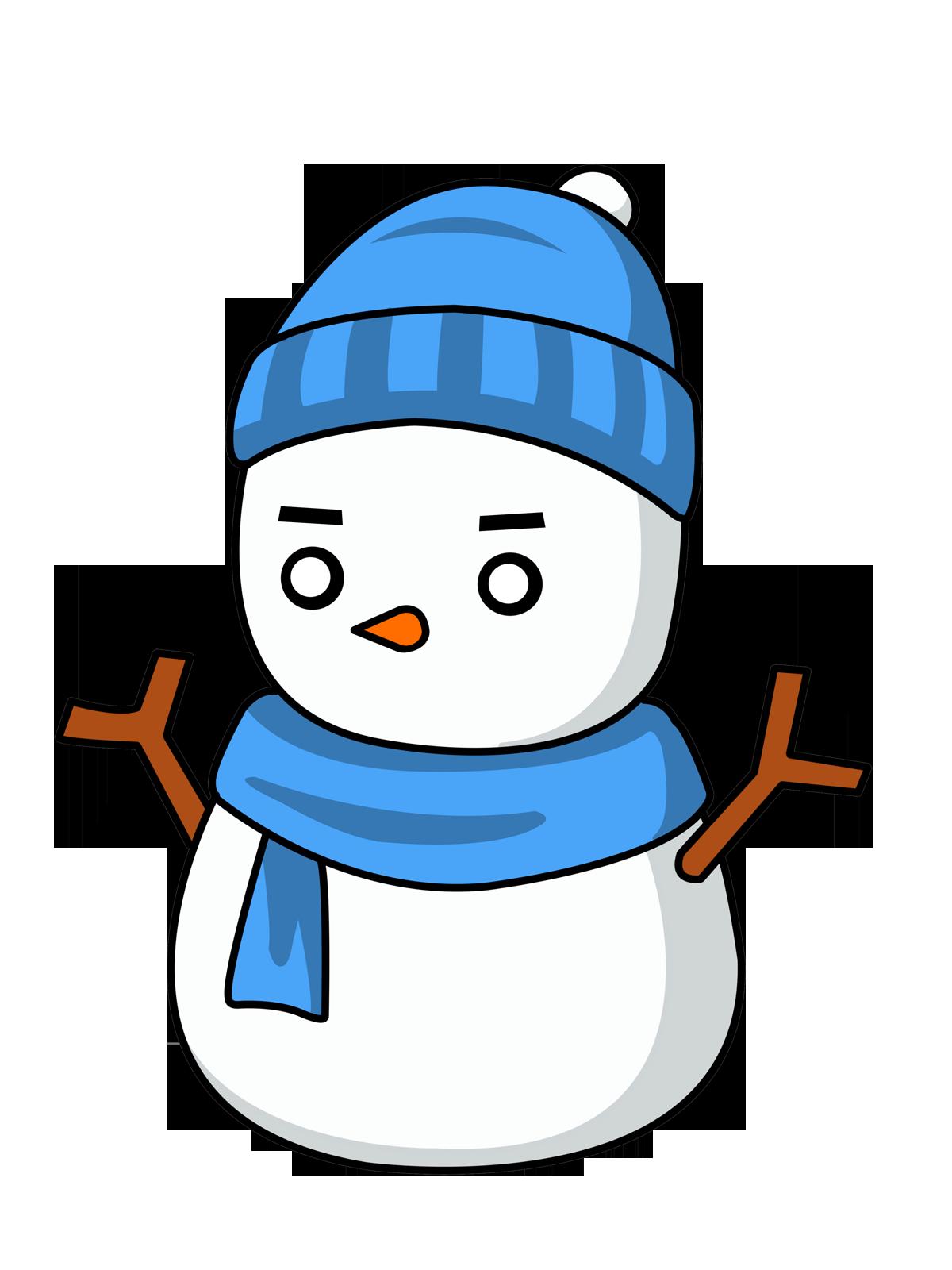 Free Snowman with Eskimo Style Hat Clip Art - Eskimo PNG Free