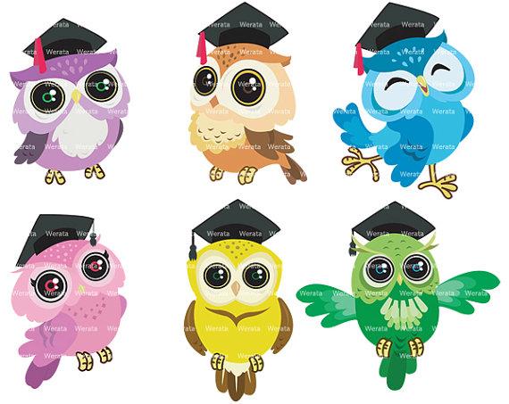 Graduierung Eulen Clipart ClipArt Eule Clipart ClipArt von Werata - Eule Schule PNG