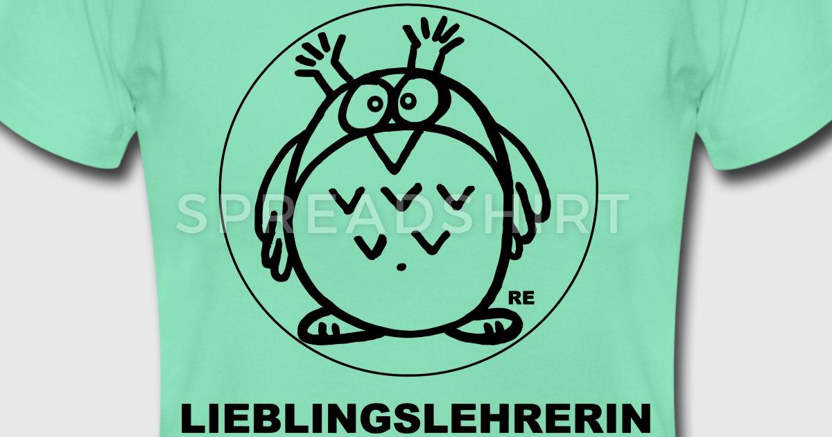 Lieblingslehrerin Eule Schule Grundschule Lehrerin T-Shirt | Spreadshirt - Eule Schule PNG