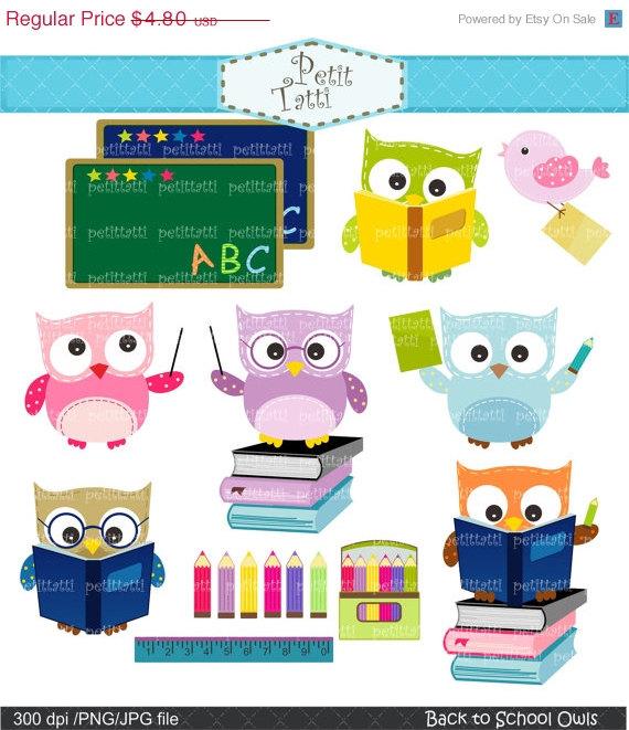 Studie über Verkauf Schule Eule Clipart - Eulen-ClipArt-Grafiken, digitale  Clipart, zurück zu Schule Clipart, ClipArt Klassenzimmer,:, Bildung - Eule Schule PNG