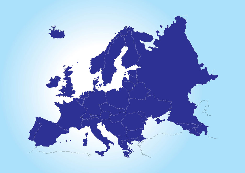 europe continent map | Map of Europe Vector - Europa Vector Flag PNG
