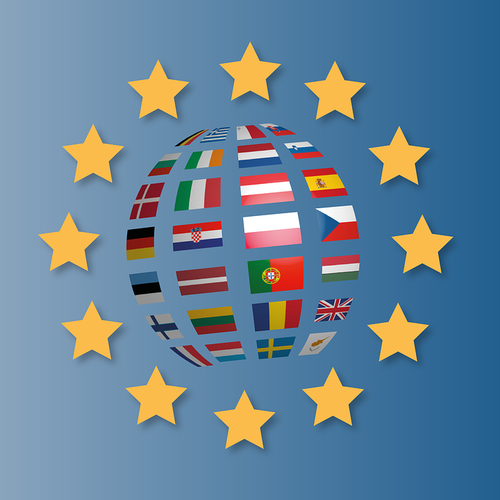 europe flags states of america characters eu - Europa Vector Flag PNG