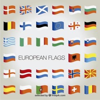 European flags collection - Europa Vector Flag PNG