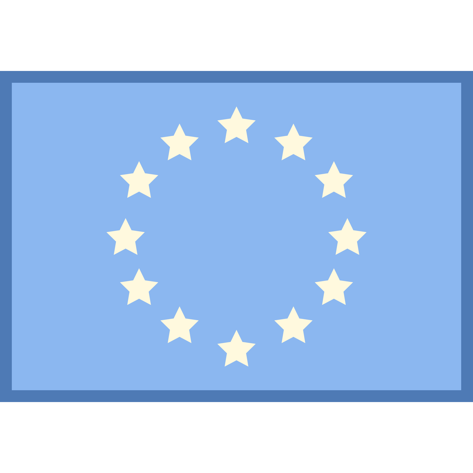 Flag Of Europe icon - Europa Vector Flag PNG