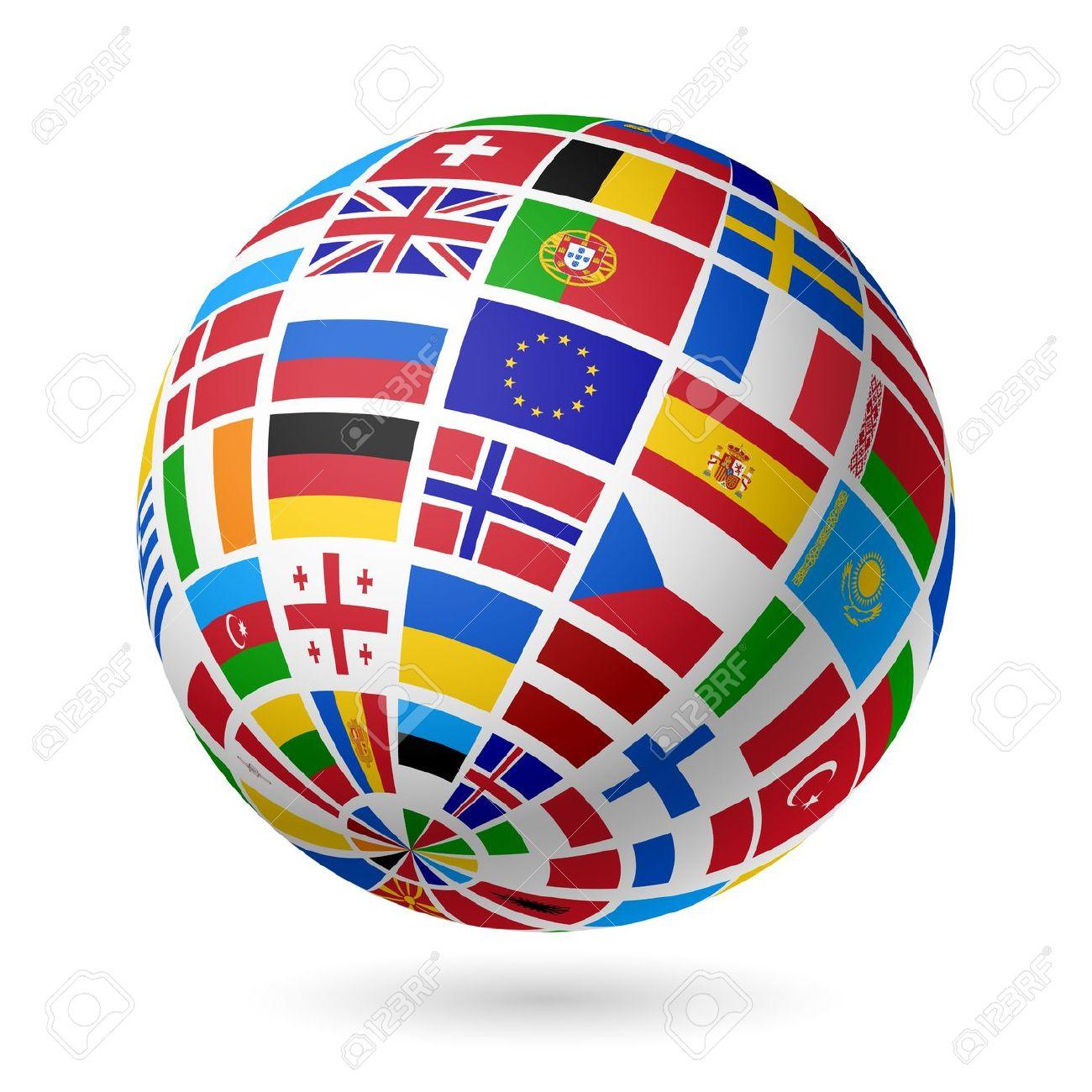 Flags globe Europe Stock Vector - 15017439 - Europa Vector Flag PNG