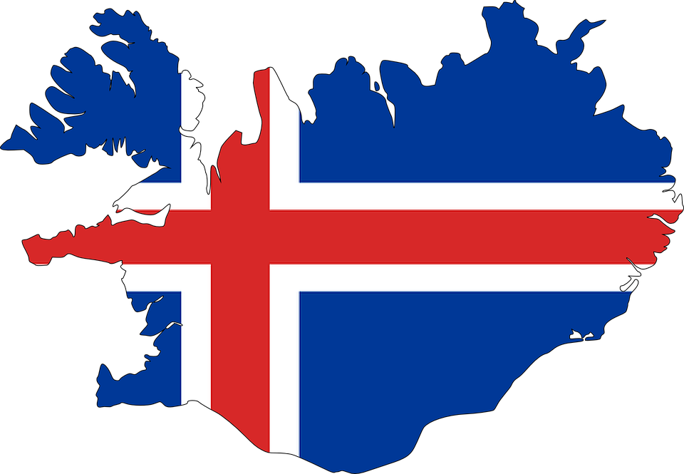 Iceland, Map, Flag, Europe, Country - Europa Vector Flag PNG
