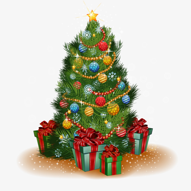 Vector Christmas Mikiko, HD, Vector, Gifts Under The Tree Free PNG and  Vector - Evergreen Tree PNG HD